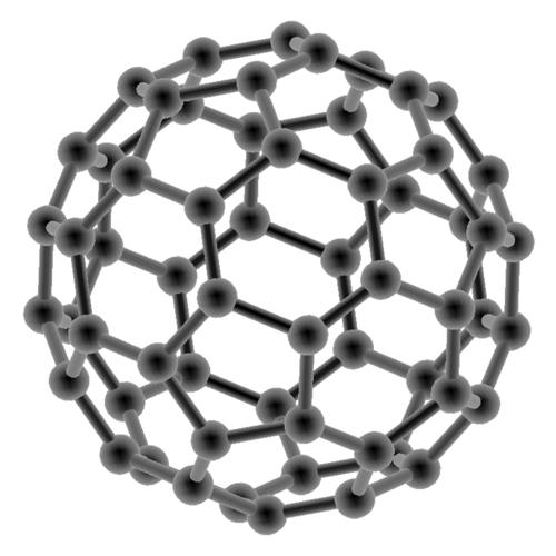 Gitternetz Struktur einens Buckminsterfulleren