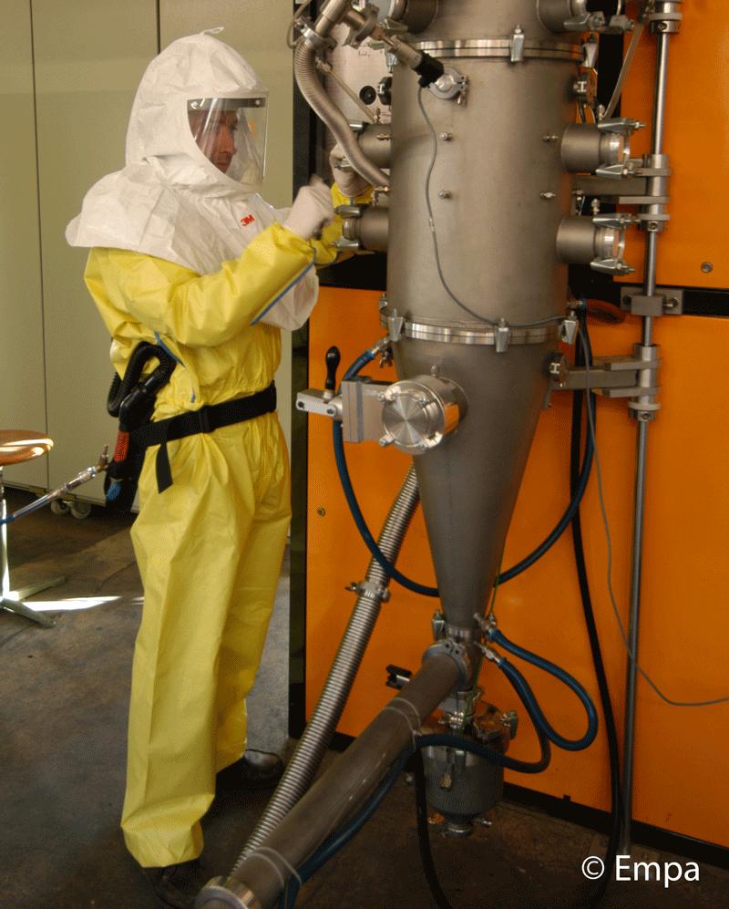 Arbeitsschutz. © Empa, 2009.