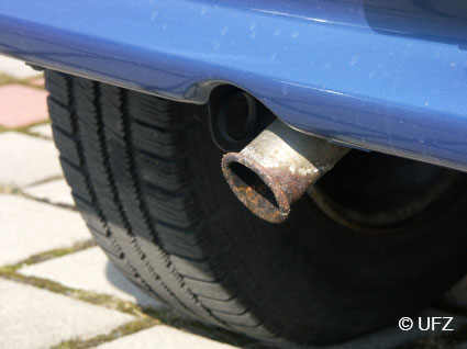car exhaust pipe © UFZ