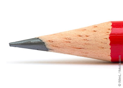 Tip of a pencil: Graphite is responsible for the gray color of pencil leads