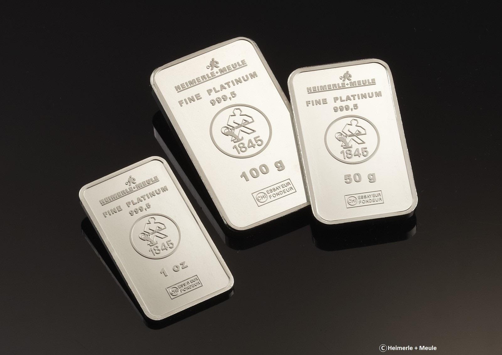 Representation of three bars of platinum