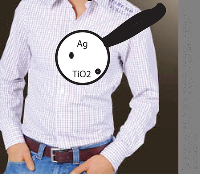 Männerhemd als Anwendungsbeispiel für Silber und Titandioxid Nanopartikel in Textilien